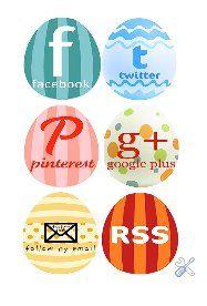 Free Easter Egg Social Media Buttons for Your Blog