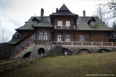"""Wooden architecture in Poland and my family's """"House under the Firs"""", part Timber House, Wooden House, Wooden Architecture, Victorian Homes, Zakopane Poland, Mansions, House Styles, Wallpaper, Cabins"""