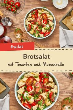 Ciabatta bread salad with tomatoes and mozzarella is quick and easy to prepare. Ciabatta, Bread Salad, Healthy Recipes, Healthy Food, Sweet, Tomatoes, Low Carb, Plants, Cooking
