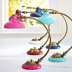 Arc Task Lamp #pbteen $69' love the tiffany blue