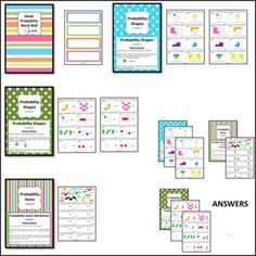 FREE Probability Math Centres/Centers Math Teacher, Teaching Math, Math Centers, Worksheets, Activities For Kids, Just For You, Reading, School, Fun