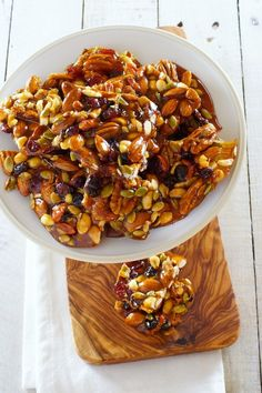 Fruit and Nut Brittle: Sweet brittles are the perfect snack to keep around your house during the holidays for hungry guests to munch on.
