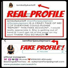 As always... @iamflorijasulejmani pretends to be @iamkellykarloff . Help us to report this crazy fake!  #florijasulejmani #iamflorijasulejmani #instafake #instafakes #instafaker #instafakers #fake #fakeprofile #instagram #reports #report #reportthefake #fakeofkellykarloff #kellykarloff #fakehunters #stopfaking #stopfakes #beoriginal #beyourself