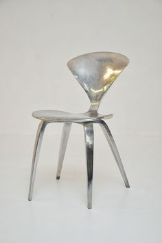 Polished Aluminum Cherner chair - I love this chair, and have just the aluminum trailer for it.