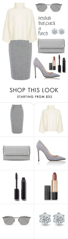 """Untitled #405"" by elenarudometov ❤ liked on Polyvore featuring Topshop, STELLA McCARTNEY, Barneys New York, Chanel, Estée Lauder and Linda Farrow"
