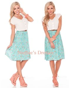 The Taliah! How cute is this dress?! So perfect for summer and I love the floral skirt! From NeeSeesDresses.com