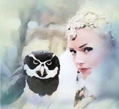 BELLA DONNA digital art - Hogwarts School (Owl Art) Originalfoto UgleRiget / Joan Dusi