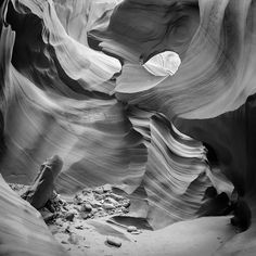 "WALL ART ""Antelope Canyon Rock Formations bw"", Fine Art America. More: http://www.melanieviola-fotodesign.de/"