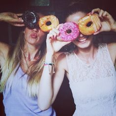 cover your eyes with donuts!