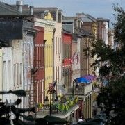 Rows of houses in the French Quarters