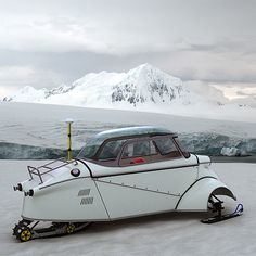 Snowmobile- what a cool thing to do to a Messerschmidt!