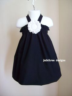 New Tuxedo Black Halter Top/Dress Toddler by JMBthreedesigns, $35.00  Might be good for first birthday photo shoot!