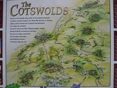 Illustrated Map of The Cotswolds  England  England  Pinterest
