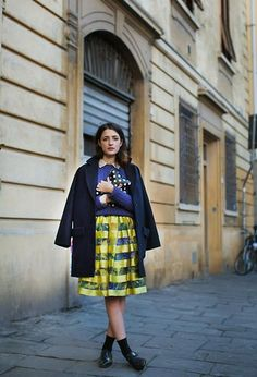 Sessun Coat, Aspesi Knitwear, Msgm Dress, Comme Des Garçons Polka Dots Clutch