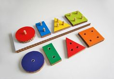Recycled Cardboard Geometric Game
