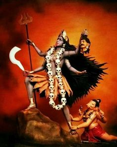 Kali  Maha Kali Kali Maa Lord Ganesha Paintings, Lord Shiva Painting, Ganesha Art, Sri Ganesh, Mother Kali, Divine Mother, Mother Goddess, Maa Kali Images, Durga Images