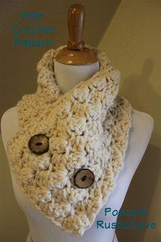 Crochet Pattern Popcorn Scarf/Neck Warmer