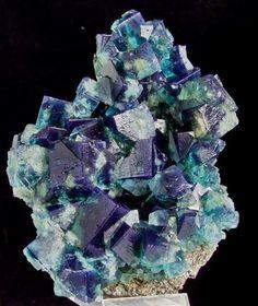 Fluorite. Rogerly Mine, Frosterley, UK