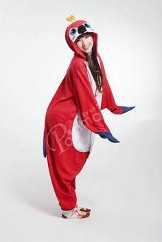 Red Parrot Onesies Hoodie Pajamas Animal Kigurumi | PajamasBuy