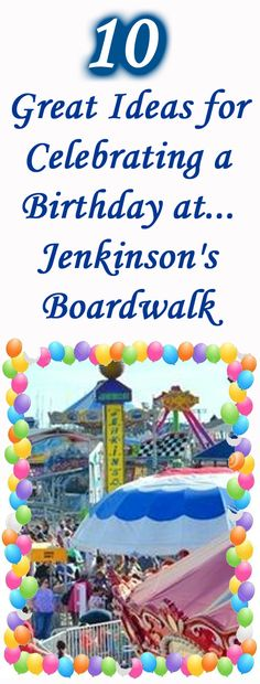 Plan a fun adventure scavenger hunt AT Jenkinsons Boardwalk in