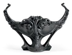 HECTOR GUIMARD (1867-1942) A Painted Cast Iron Jardinière, circa 1900 20¼ in. (51.5 cm.) high, 27¾ in. (70.5 cm.), 18¼ in. (46.4 cm.) deep
