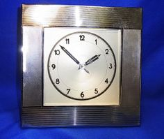 8 Day Clockwork Art Deko Bauhaus Desk Clock #