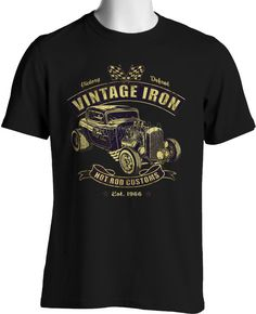 Hot Rod T Shirts Custom Rat Rod Cool Vintage Race Car Small to 6XL Big Tall #PitStopShirtShop #GraphicTee