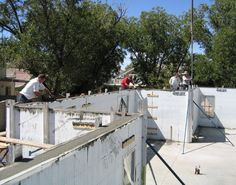 Insulated concrete forms icf construction detail photos for Icf construction pros and cons