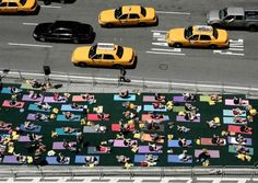 use and experience public space in whole new ways (Yoga on Times Square, NYC)