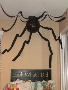 Halloween Spider. This is something I saw so I did it. Super easy! My kids love it. @Sarah Drago