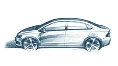 Professional prismacolor car sketches
