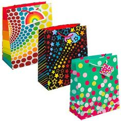 Large Colorful All-Occasion Glittery Gift Bag