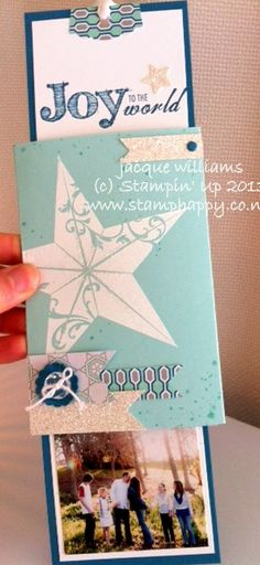 Stampin' Up! Christmas Star and Winter Frost DSP Double Slider Card | Jacquelyn Williams, Stamp Happy