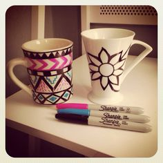 DIY Sharpie Coffee Cups