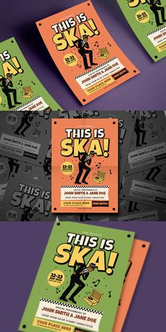 This Is Ska! Music Flyer Template AI, PSD - A4
