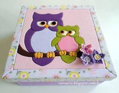 Box in patchwork without needle