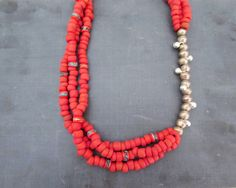 Hey, I found this really awesome Etsy listing at https://www.etsy.com/listing/231054401/red-boho-layered-necklace-eco-friendly