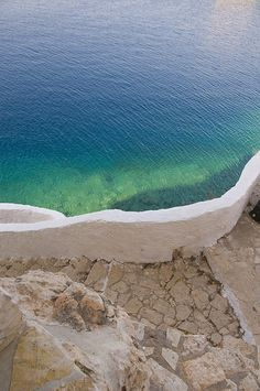 Kastelorizo sea and steps by Adrian D..., via Flickr