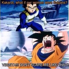 Whoa that would be scary LOL but I already feel like Bulma and Chichi have a Saiyan feel about them.