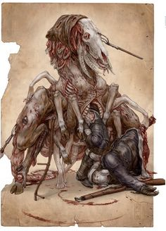 Keith Thompson is an exceptional artist with an eye for undead, horrific creatures and character des Monster Art, Monster Design, Dark Fantasy, Modern Artists, Horror Art, Creature Design, Fantasy Creatures, Macabre, Dark Art