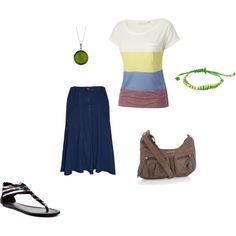 """Styling Denim Skirts"" by radsstylebook on Polyvore"