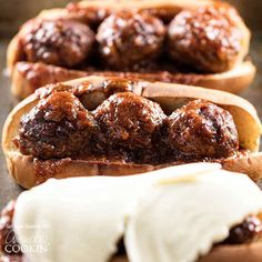 Slow Cooker BBQ Meatball Subs. These slow cooker BBQ meatball subs are an easy dinner that everyone will love! The meatballs cook all day in the crockpot with minimal prep Crock Pot Slow Cooker, Crock Pot Cooking, Slow Cooker Recipes, Crockpot Recipes, Hamburger Recipes, Slow Cooker Bbq Meatballs, Crock Pot Meatballs, Meatball Subs, Meatball Recipes
