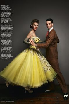 """Let's Dance"": Arizona Muse in Spring Couture with Dancers By Patrick Demarchelier for Vogue UK"