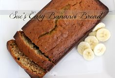 Easy Banana Bread UPDATE: THIS IS VERY GOOD AND SUPER EASY! I DID MINE WITHOUT THE NUTS AND IT WAS AWESOME!