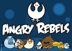 please let there be an Angry Birds Star Wars release. That would be beyond awesome. Bomb bird you, they will. Crossover, Angry Birds Characters, Star Wars Costumes, The Force Is Strong, Geek Out, Star Wars Art, Star Trek, For Stars, Geek Stuff