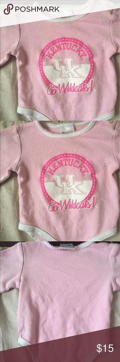 University Of Kentucky Baby Girls Bodysuit 3-6m University Of Kentucky Baby Girls Pink Bodysuit 3-6months ProEdge One Pieces Bodysuits