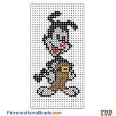 Animaniacs plantilla hama bead. Descarga una amplia gama de patrones en formato PDF en www.patroneshamabeads.com