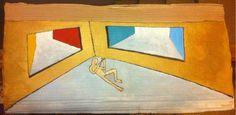 Venezia è un bivio - quadro appartenente alla mostra Seah Bea del 1997 - Olio su cartone, Emanuele Remoto
