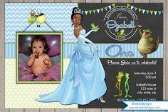 Princess and the Frog Birthday Invitations - Disney Photo Invitation