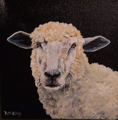 This is a great little oil painting of a sheep by Patti Gilley. We bought this together in Highlands, NC in 2013